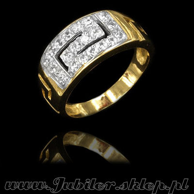 Jewelry shop, Gold rings with zircons