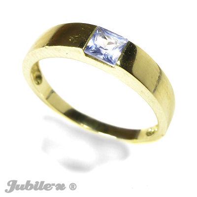 5b4a9b991518c3 Pierścionki, biżuteria złota, Złoty pierścionek z s/akwamarynem, MH ...