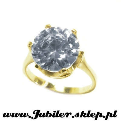 Jeweller shop, gifts, 14k, Gold ring with zircon