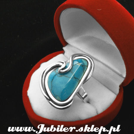 Silver ring an turguoise