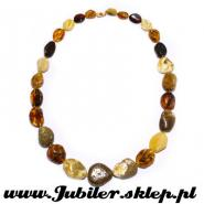 Natural stone  with an amber