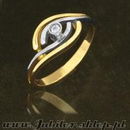 Gold ring with zircons, Jeweller shop