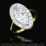 Jewelry shop, Gold ring with zircons