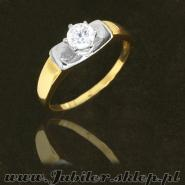 Jeweller shop, Gold ring with zircon