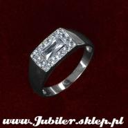 Jeweller shop, gifts,14k, Ring of white gold with zircons
