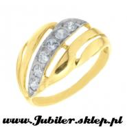 Gold ring with zircons, Jewellery shop