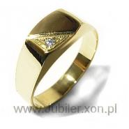 Gold signet ring with zircon, Jeweller shops gifts 14k