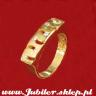 Jeweller shop, Gold ring with zircons