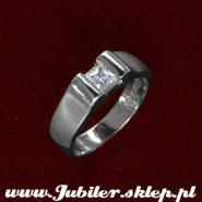 Jeweller shop, gifts,14k, White gold ring with zircon
