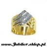 Jeweller shop, gifts, 14k, Gold ring with zircons