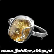 Jewellery shop, Silver bracelet with an amber