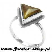 Jeweller shop, silver ring with an amber