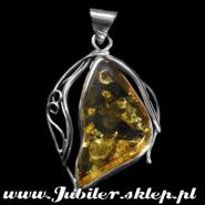Pendant with an amber, Jeweller shops, gifts Silver