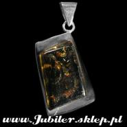 Silver Pendants with an amber