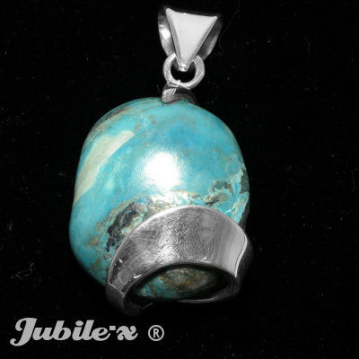 Silver Pendant with a turquoise
