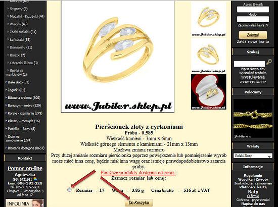 zegarki, korale, biżuteria srebrna, sygnety, pierscionki